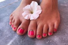 Pedicure mit Shellac